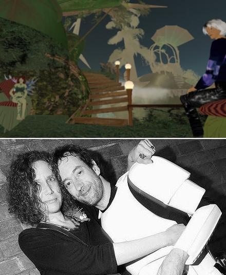 Fallingwater Cellardoor & Eddie Escher in Second Life, 2004;