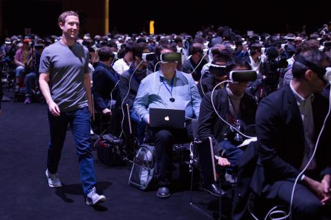 Mark Zuckerberg virtual reality